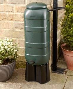 100 Litre Slimline Water Butt Set (inc 4 part stand & filler)